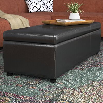 Cade Storage Ottoman Upholstery: Black
