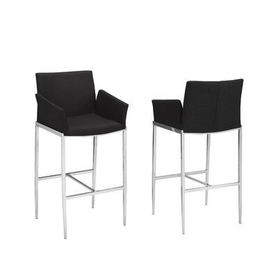 Hagaman 29 Bar Stool Upholstery: Black