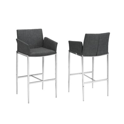 Hagaman 29 Bar Stool Upholstery: Gray