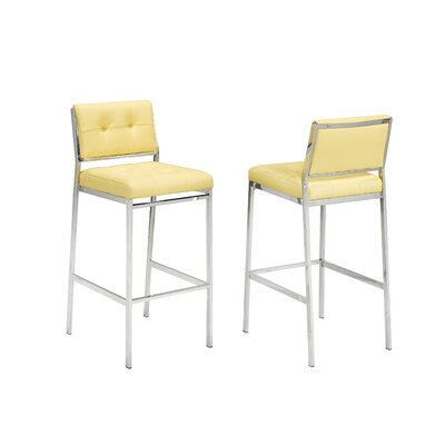 Hagedorn 29 Bar Stool Upholstery: Yellow