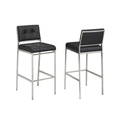 Hagedorn 29 Bar Stool Upholstery: Black
