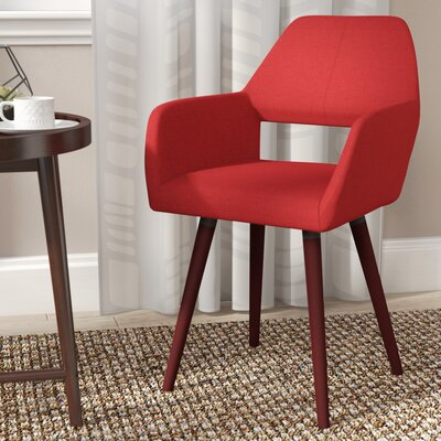 Mila Side Chair Upholstery: Burgandy