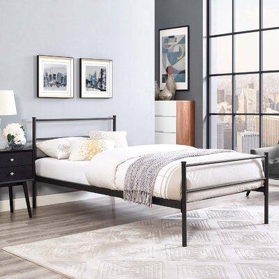 Donnellan Queen Platform Bed Color: Brown, Size: Twin