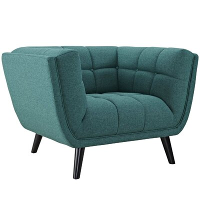 Pylant Upholstered Armchair Upholstery: Teal