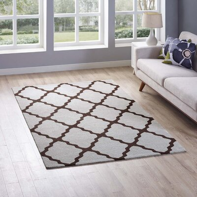Tylersburg Moroccan Trellis Brown/Gray Area Rug Rug Size: Rectangle 5 x 8