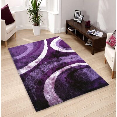 Sangiacomo Hand-Tufted Purple Area Rug