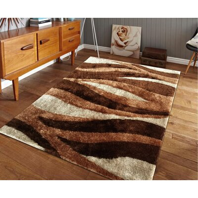 Sangiacomo Hand-Tufted Brown/Beige Area Rug