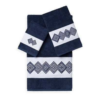 Byron 3 Piece Towel Set Color: Midnight Blue