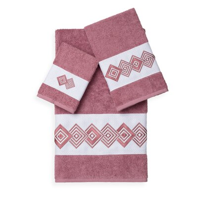 Byron 3 Piece Towel Set Color: Tea Rose