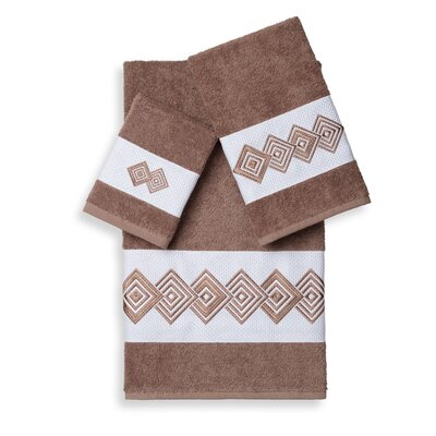 Byron 3 Piece Towel Set Color: Latte