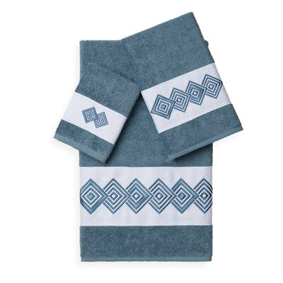 Byron 3 Piece Towel Set Color: Teal