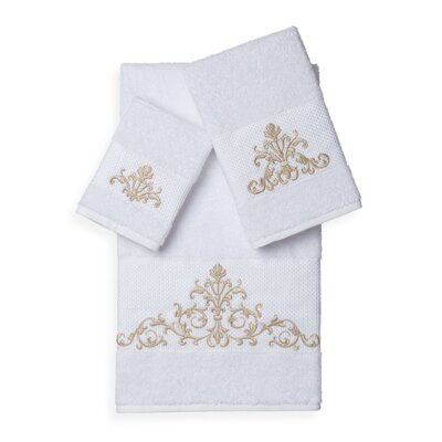 Mcloughlin 3 Piece Towel Set Color: White
