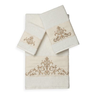 Mcloughlin 3 Piece Towel Set Color: Cream