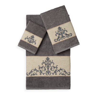 Mcloughlin 3 Piece Towel Set Color: Dark Grey