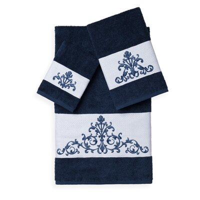 Mcloughlin 3 Piece Towel Set Color: Midnight Blue