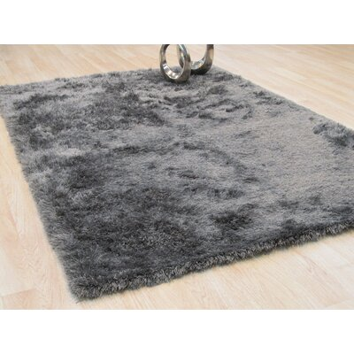 Pearman Hand-Woven Gray Area Rug Rug Size: Rectangle 5 x 8