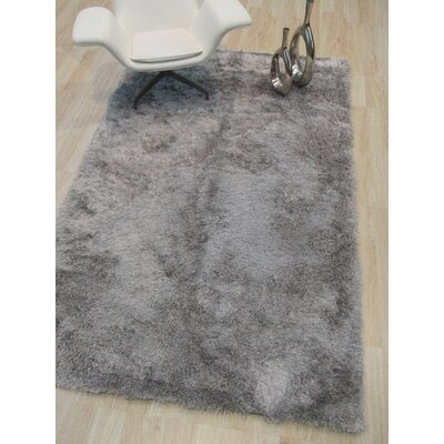 Pearman Hand-Woven Silver Solid Area Rug Rug Size: Rectangle 89 x 119