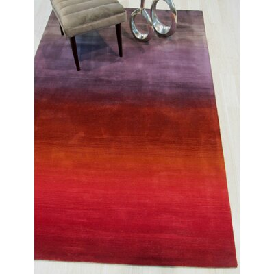 Carolina Hand-Woven Wool Red Area Rug Rug Size: Rectangle 5 x 8