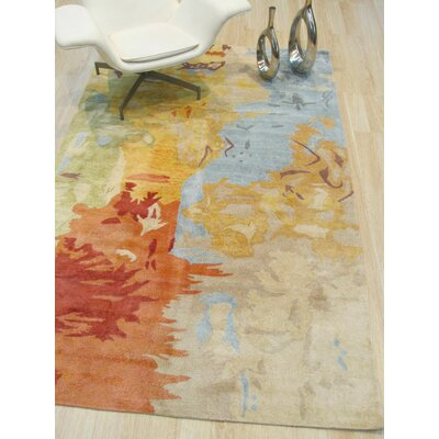 Callie Hand-Tufted Multicolored Area Rug Rug Size: Rectangle 5 x 8