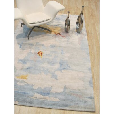 Callie Hand-Tufted Blue Area Rug Rug Size: Rectangle 89 x 119