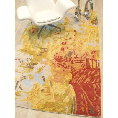 Callie Hand-Tufted Gold Area Rug Rug Size: Rectangle 89 x 119
