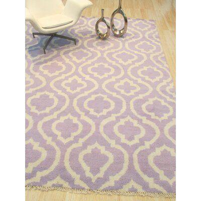 One-of-a-Kind Morales Hand-Knotted Wool Purple Area Rug Rug Size: Rectangle 96 x 136