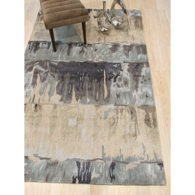 Callie Hand-Tufted Green Area Rug Rug Size: Rectangle 5 x 8
