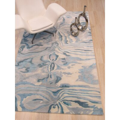 Callie Hand-Tufted Blue Area Rug Rug Size: Rectangle 5 x 8