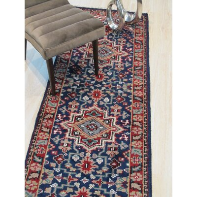 Neil Hand-Knotted Wool Blue Area Rug