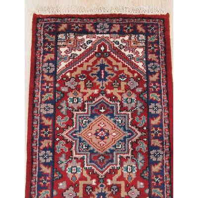 Neil Hand-Knotted Wool Red Area Rug