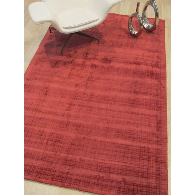 Clarissa Hand-Woven Red Area Rug Rug Size: Rectangle 89 x 119