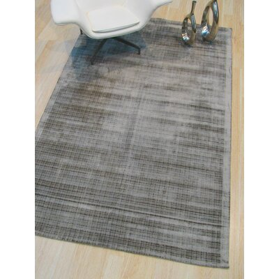 Clarissa Hand-Woven Silver Area Rug Rug Size: Rectangle 89 x 119