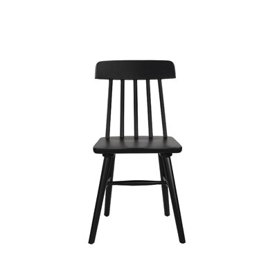 Croswell Armless Dining Chair Color: Black