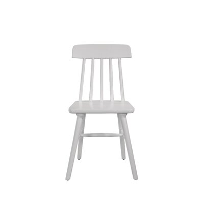 Croswell Armless Dining Chair Color: White