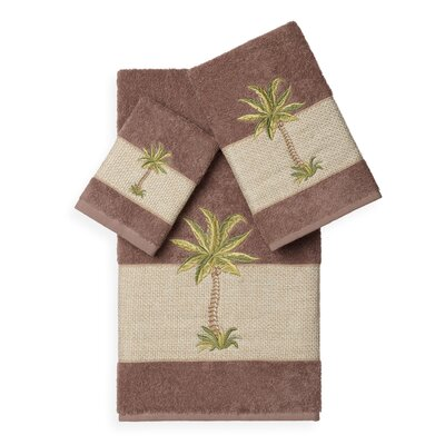 Mcleod 3 Piece Towel Set Color: Latte