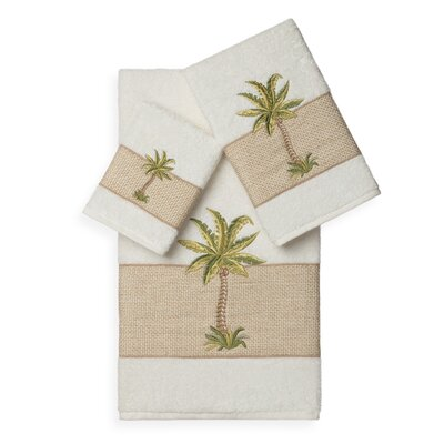 Mcleod 3 Piece Towel Set Color: Cream