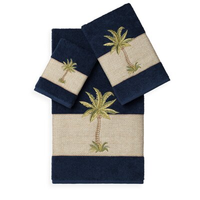 Mcleod 3 Piece Towel Set Color: Midnight Blue