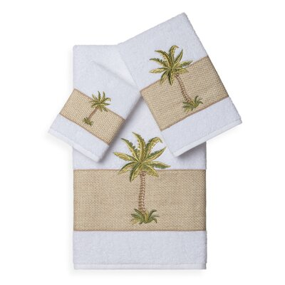 Mcleod 3 Piece Towel Set Color: White
