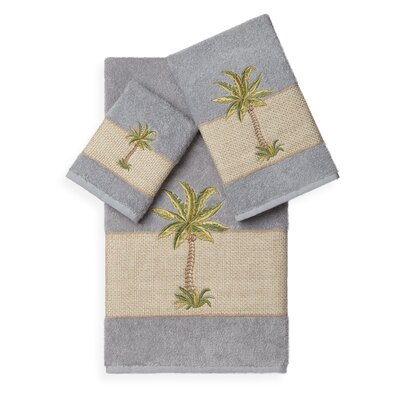 Mcleod 3 Piece Towel Set Color: Light Grey