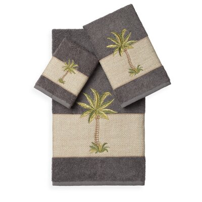 Mcleod 3 Piece Towel Set Color: Dark Grey