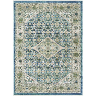 Justine Blue Area Rug Rug Size: Rectangle 5 x 7