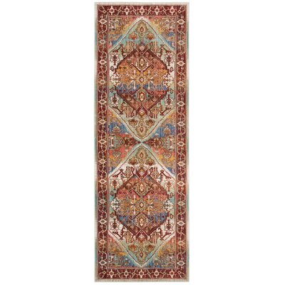 Justine Rust Area Rug Rug Size: Runner 3 x 8