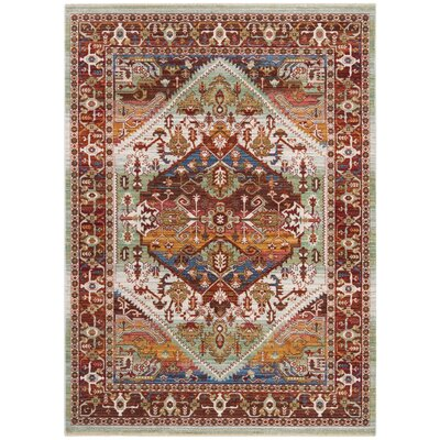 Justine Rust Area Rug Rug Size: Rectangle 5 x 7