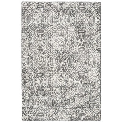 Sulema Hand-Tufted Wool Gray/Beige Area Rug Rug Size: Rectangle 4 x 6
