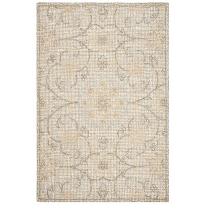 Sulema Hand-Tufted Wool Light Gray/Ivory Area Rug Rug Size: Rectangle 6 x 9