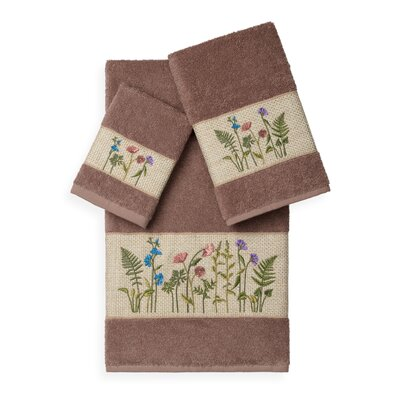 Ha 3 Piece Towel Set Color: Latte
