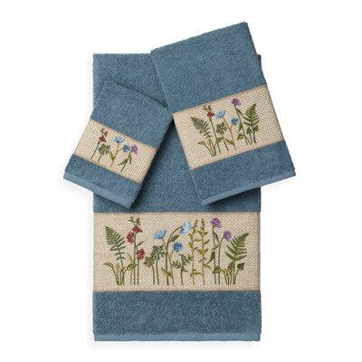 Ha 3 Piece Towel Set Color: Teal
