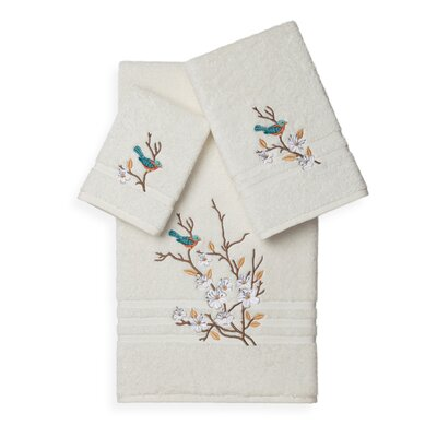 Hacking 3 Piece Towel Set Color: Cream