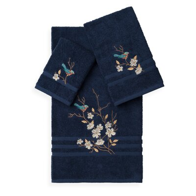 Hacking 3 Piece Towel Set Color: Midnight Blue