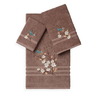 Hacking 3 Piece Towel Set Color: Latte